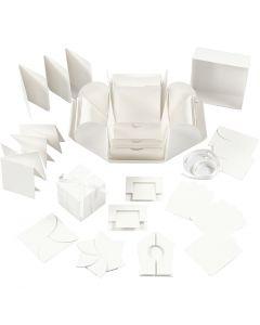Explosion Box, misura 7x7x7,5+12x12x12 cm, avorio, 1 pz