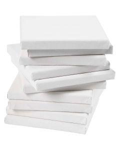 Tela tesata, misura 15x15 cm, 280 g, bianco, 80 pz/ 1 conf.