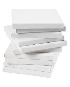 Tela tesata, misura 20x20 cm, 280 g, bianco, 80 pz/ 1 conf.