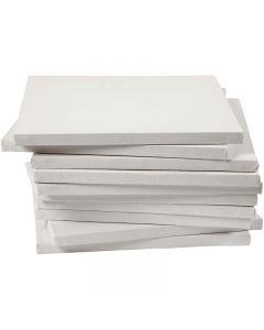 Tela tesata, P 1,6 cm, misura 30x30 cm, 280 g, bianco, 40 pz/ 1 conf.