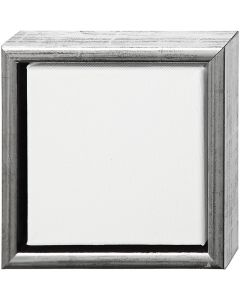 Tela ArtistLine con cornice, misura 19x19 cm, bianco, 6 pz/ 1 conf.