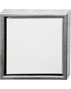Tela ArtistLine con cornice, misura 24x24 cm, 360 g, argento antico, bianco, 1 pz