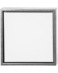 Tela ArtistLine con cornice, misura 34x34 cm, 360 g, argento antico, bianco, 1 pz