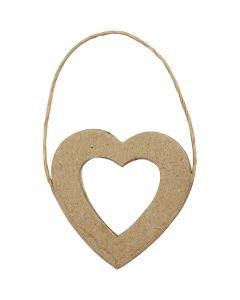 Cornice cuore, H: 7,5 cm, L: 7 cm, 6 pz/ 1 conf.