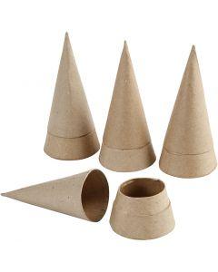 Scatola cono, H: 13 cm, diam: 6,5 cm, 4 pz/ 1 conf.