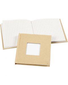 Quaderno, misura 10x10 cm, 60 g, marrone, 1 pz