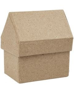 Casa, H: 10,5 cm, misura 6x8,5 cm, 4 pz/ 1 conf.