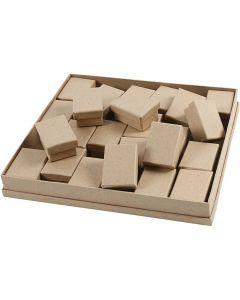 Scatole, H: 3,5 cm, misura 5x7 cm, 24 pz/ 1 conf.