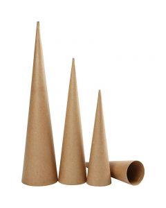 Coni alti, H: 30-40-50 cm, diam: 8-9-11,5 cm, 3 pz/ 1 conf.