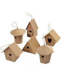 Casette per gli uccellini, H: 7 cm, 6 pz/ 1 conf.