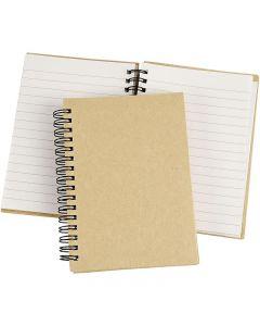 Quaderno, A6, 60 g, marrone, 1 pz
