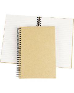 Quaderno, A5, 60 g, marrone, 1 pz