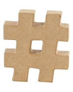 Simbolo, #, H: 10 cm, spess. 1,7 cm, 1 pz