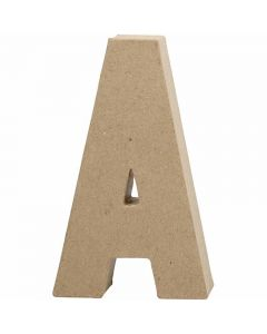 Lettera, A, H: 20,5 cm, L: 11,8 cm, spess. 2,5 cm, 1 pz