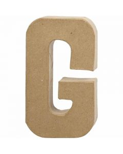 Lettera, G, H: 20,5 cm, L: 11,5 cm, spess. 2,5 cm, 1 pz