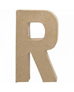 Lettera, R, H: 20,5 cm, L: 11,7 cm, spess. 2,5 cm, 1 pz