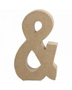 Simbolo, &, H: 19,9 cm, L: 11,5 cm, spess. 2,5 cm, 1 pz
