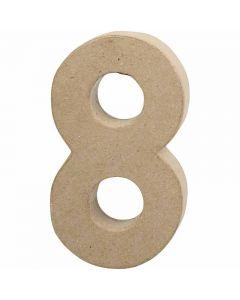 Numero, 8, H: 20,2 cm, L: 11 cm, spess. 2,5 cm, 1 pz