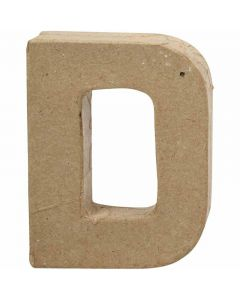 Lettera, D, H: 10 cm, L: 7,7 cm, spess. 1,7 cm, 1 pz