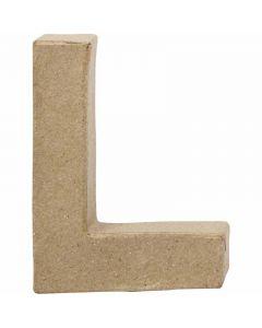 Lettera, L, H: 10 cm, L: 7,5 cm, spess. 1,7 cm, 1 pz