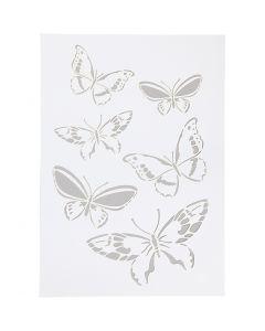 Stencil , farfalla, A4, 210x297 mm, 1 pz