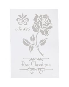 Stencil , rosa, A4, 210x297 mm, 1 pz