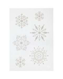Stencil , fiocco di neve, A4, 210x297 mm, 1 pz