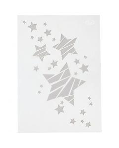 Stencil , Stelle, A4, 210x297 mm, 1 pz