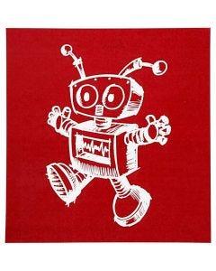 Scheda stencil, robot, 20x22 cm, 1 fgl.