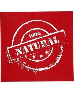 Scheda stencil, natural, 20x22 cm, 1 fgl.