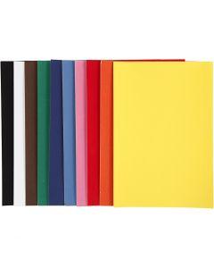 Carta velluto, A4, 210x297 mm, 140 g, colori asst., 10x5 fgl./ 1 conf.