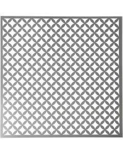 Stencil, quadrati rotondi, misura 30,5x30,5 cm, spess. 0,31 mm, 1 fgl.