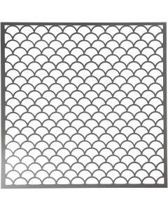 Stencil, onde, misura 30,5x30,5 cm, spess. 0,31 mm, 1 fgl.