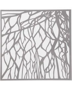 Stencil, radice, misura 30,5x30,5 cm, spess. 0,31 mm, 1 fgl.