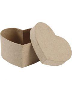 Scatola cuore, H: 6 cm, misura 11,5x11,5 cm, 1 pz