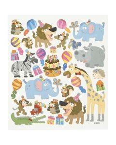 Stickers fenicotteri, animali di compleanno, 15x16,5 cm, 1 fgl.