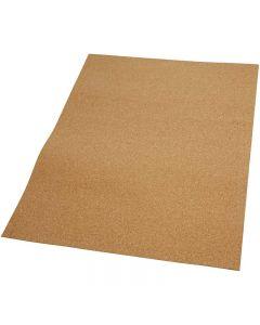 Fogli di sughero, misura 35x45 cm, spess. 2 mm, 4 pz/ 1 conf.