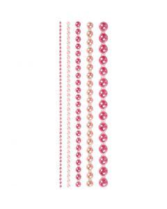 Mezze perle, misura 2-8 mm, rosa, 140 pz/ 1 conf.