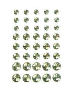 Diamanti sintetici, misura 6+8+10 mm, verde, 40 pz/ 1 conf.