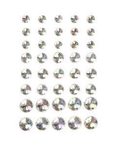 Diamanti sintetici, misura 6+8+10 mm, cristallo, 40 pz/ 1 conf.