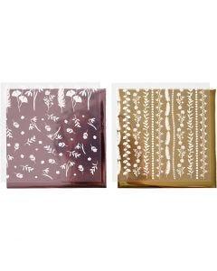 Deco Foil e fogli trasferibili, 15x15 cm, 2x2 fgl./ 1 conf.