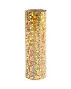 Pellicola decorativa, L: 15,5 cm, spess. 0,02 mm, oro, 50 cm/ 1 rot.