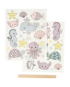 Sticker da strofinare, oceano, 12,2x15,3 cm, 1 conf.