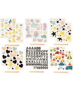 Sticker da strofinare, 12,2x15,3 cm, 12 fgl./ 1 conf.