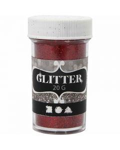 Glitter, H: 60 mm, diam: 35 mm, rosso, 20 g/ 1 vasch.