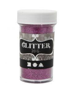 Glitter, H: 60 mm, diam: 35 mm, rosa, 20 g/ 1 vasch.