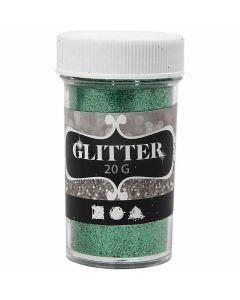 Glitter, H: 60 mm, diam: 35 mm, verde, 20 g/ 1 vasch.