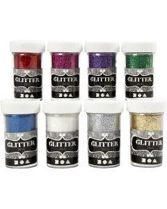 Glitter, colori asst., 8x20 g/ 1 conf.