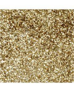 Glitter biodegradabili, diam: 0,4 mm, oro, 10 g/ 1 vasch.