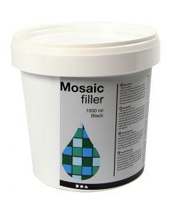 Stucco per mosaico, nero, 1000 ml/ 1 secch.